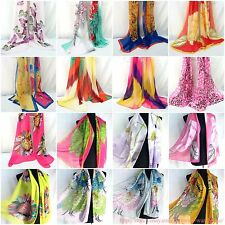 US SELLER |lot of 10 Wholesale Scarves retro vintage bohemian chiffon scarf