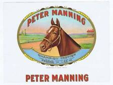 Peter Manning, inner cigar box label, Horse, Champion Trotter