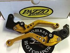Pazzo Shorty Levers Gold/black for YAMAHA R6 2005 - 2016