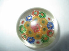 Vintage Antique Chinese Art Deco 1930's Millefiori Glass Paperweight