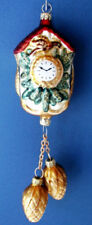 Cuckoo Clock w/ Pinecone Weights - Blown in Lauscha, Germany