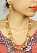 2171 Traditional Gold Tone Made Polki Necklace Set For Women's Partywear Jewelry