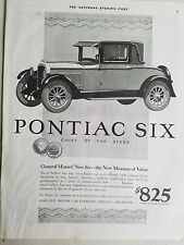 1926 Pontiac Six Coupe Car New Measure of Value Chief of Sixes Original Ad