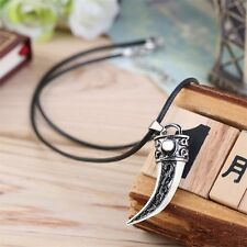 Punk Style Men Domineering Wolf Tooth Shape Pendant Necklace Jewelry Gift JL