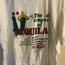 The 4 Stages of Tequila I'm Rich Good Looking Bullet Proof Invisible T Shirt XL