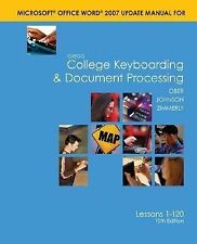 Word 2007 Manual t/a Gregg College Keyboarding & Document Processing (GDP);
