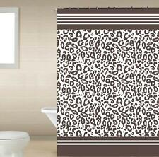 Angola Brown Leopard 13-Pc Bath Shower Curtain & Rings Bathroom Accessory Set