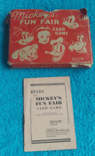 VINTAGE PEPYS SERIES MICKEY'S FUN FAIR CARD GAME - DISNEY - 1939 - COMPLETE