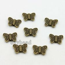 100x Fashion Vintage Antique Bronze Butterfly Shape Spacer Beads Fit Findings J