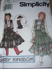 DAISY KINGDOM-SIMPLICITY 9180-GIRLS WESTERN TIERED SKIRT-TOP & VEST PATTERN S-Lu
