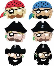 10 Pirate Masks Eva Foam Birthday Party Loot Bag Fillers Toy