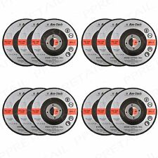 12x +QUALITY+ 115mm x 3mm Thin Stone Cutting Disc Depressed Centre Angle Grinder