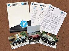 1995-96 CHRYSLER UK stampa informazioni e foto per il lancio di Neon & VOYAGER