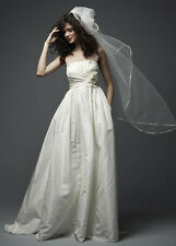 WATTERS WTOO Sleeveless Bridal Gown Wedding Dress Size 10  EXC COND