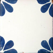 9 MEXICAN TILES WALL OR FLOOR USE TALAVERA MEXICO CERAMIC HANDMADE POTTERY C#079