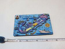 Bermuda 3D map magnet RARE fridge refrigerator souvenir nautical islands ship