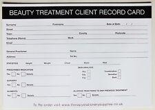 Salon-terapeuta tratamiento de belleza registro de cliente (50 Pack)