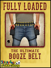 Ultimate Beer Booze Shot Belt Adult Drinking Stag Party Novelty Gifts for Him