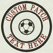 Soccer Custom Embroidered Name Tag, Patch, Badge Iron On or Sew On -