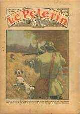 Hunting Chasse Lapins Lièvre Chien Rabbits Hare Dog France 1936 ILLUSTRATION
