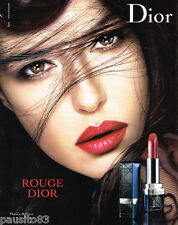 PUBLICITE ADVERTISING 085  2006  DIOR  maquillage rouge à lèvres MONICA BELLUCCI