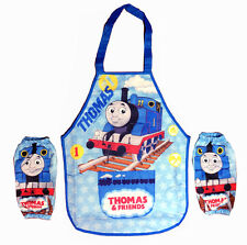 Thomas & Friends 2 Layers Kids Young Boy Cooking & Painting Apron + 2 sleeves