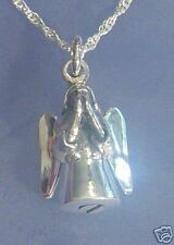 Cremation Sterling Silver Jewelry Angel Urn Pendant Locket Memorial free chain