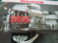 Pocher 1/8 Ferrari F40 Full Engine Transkit Super Detail 400 pcs!