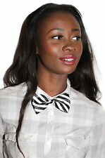 HUMBUG STRIPE DICKY BOW GEEK KAWAII JAPAN SCHOOL GIRL ALT PRE TIED BOW TIE