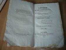 LETTRE DE SIR LEOPOLD WRIGHT RETOUR EGLISE CATHOLIQUE 1824