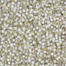 Toho Perline Seme Round 3mm misura 8/0 argento foderato cristallo satinato 10g (l84/7)