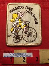 Tricycle Big Like Bicycle Jacket Patch ~ Friends Are Sunshine ~ Friendship 62T5