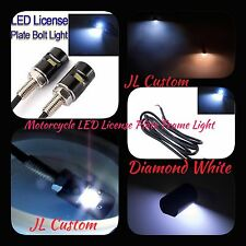 LED Diamond White For Motorcycles, Cars & RV & More License Plate Bolt Light