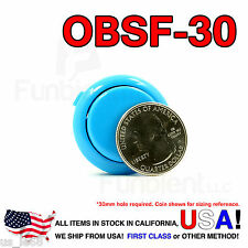 Sanwa Denshi Original OBSF-30 Blue Push Button JAMMA guitar kill switch 30mm
