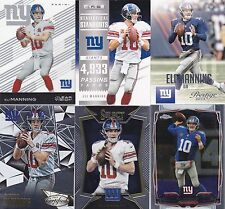 Eli Manning lot of 6 different premium cards (lot 5)