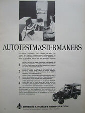 6/1974 PUB BRITISH AIRCRAFT AUTOMATIC TEST SYSTEMS RAPIER LAND ROVER FRENCH AD
