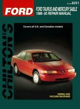 Ford Taurus and Sable, 1986-95 by Chilton Automotive Editorial Staff (1998, Pap…