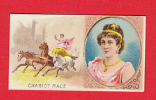 GOODWIN & CO. - EXTREMELY RARE GAMES & SPORTS CARD -  CHARIOT  RACE  - 1889
