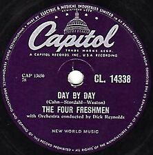 """RARE FOUR FRESHMEN 78 """" DAY BY DAY / HOW CAN I TELL HER """" UK CAPITOL CL14338 E-"""