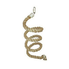 """A&E Cage Large Sisal Rope Boing Bird Toy with Bell HB562 Bird Toy 90"""" x 1"""" NEW"""