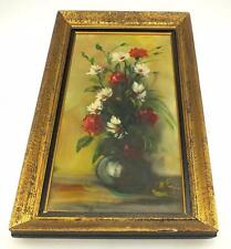 20thC Still Lif Oil Painting Of Flowers - Flower Vase Picture on Canvas Original