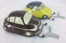 2x VW Black & White Tatra  Kovap Europe Made Tin Toy with Edge Detector
