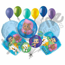 11 pc Bubble Guppies Balloon Bouquet Happy Birthday Party Decoration Nickelodeon