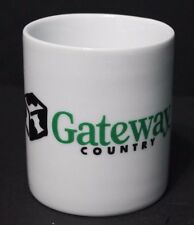 GATEWAY COUNTRY COMPUTERS ceramic COFFEE MUG CUP WHITE retired workers employees