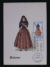 SPAIN MK 1967 COSTUMES BALEARES TRACHTEN MAXIMUMKARTE MAXIMUM CARD MC CM c6019