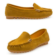 Womens Soft Sole Suede Moccasin Loafers Shoes Ladies Ballet Flat Slipper Shoes