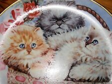 Vintage Franklin Mint THREE LITTLE KITTENS Collector Plate ~ Numbered - GREAT