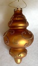 MERCURY GLASS CHRISTMAS ORNAMENT SPIRAL LANTERN FIGURAL HANDPAINTED MICA