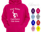 PERSONALISED GYMNASTICS GYMNAST DESIGNER GIRLS KIDS CHILDRENS HOODIE HOODY D3