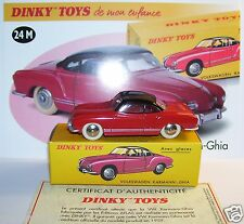 DINKY TOYS ATLAS VW VOLKSWAGEN KARMANN GHIA ROUGE TOIT NOIR 1/43 REF 24M IN BOX